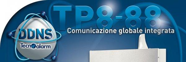 Nuova centrale TP8.88 plus tecnoalarm